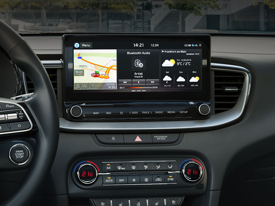 "Kia ProCeed  10.25"" touchscreen navigation"